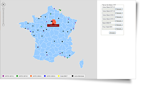 Axonal,carte de France interactive